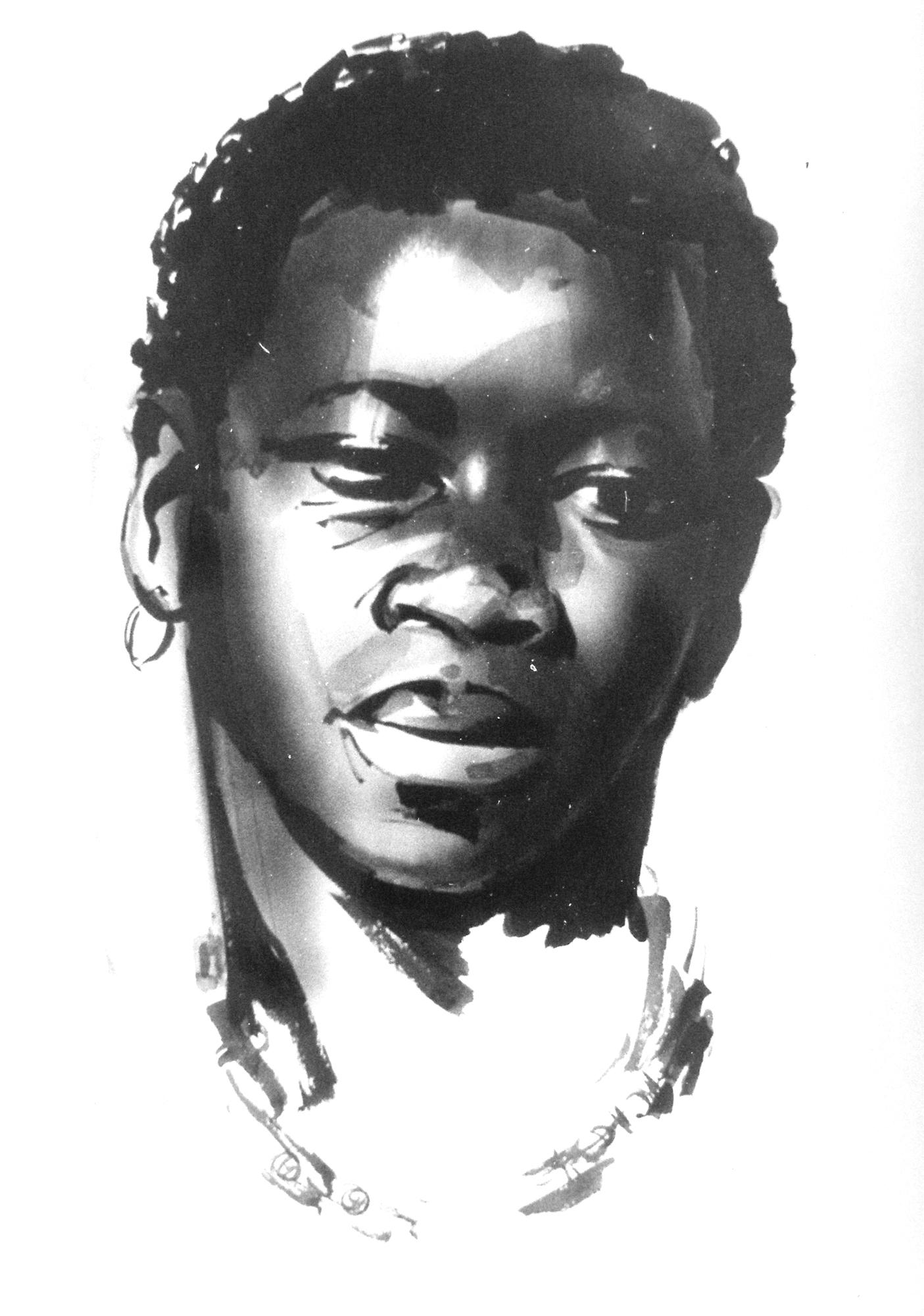 Africa_Portrait_by_Sergei_Minin_Paper_Ink_56x38cm