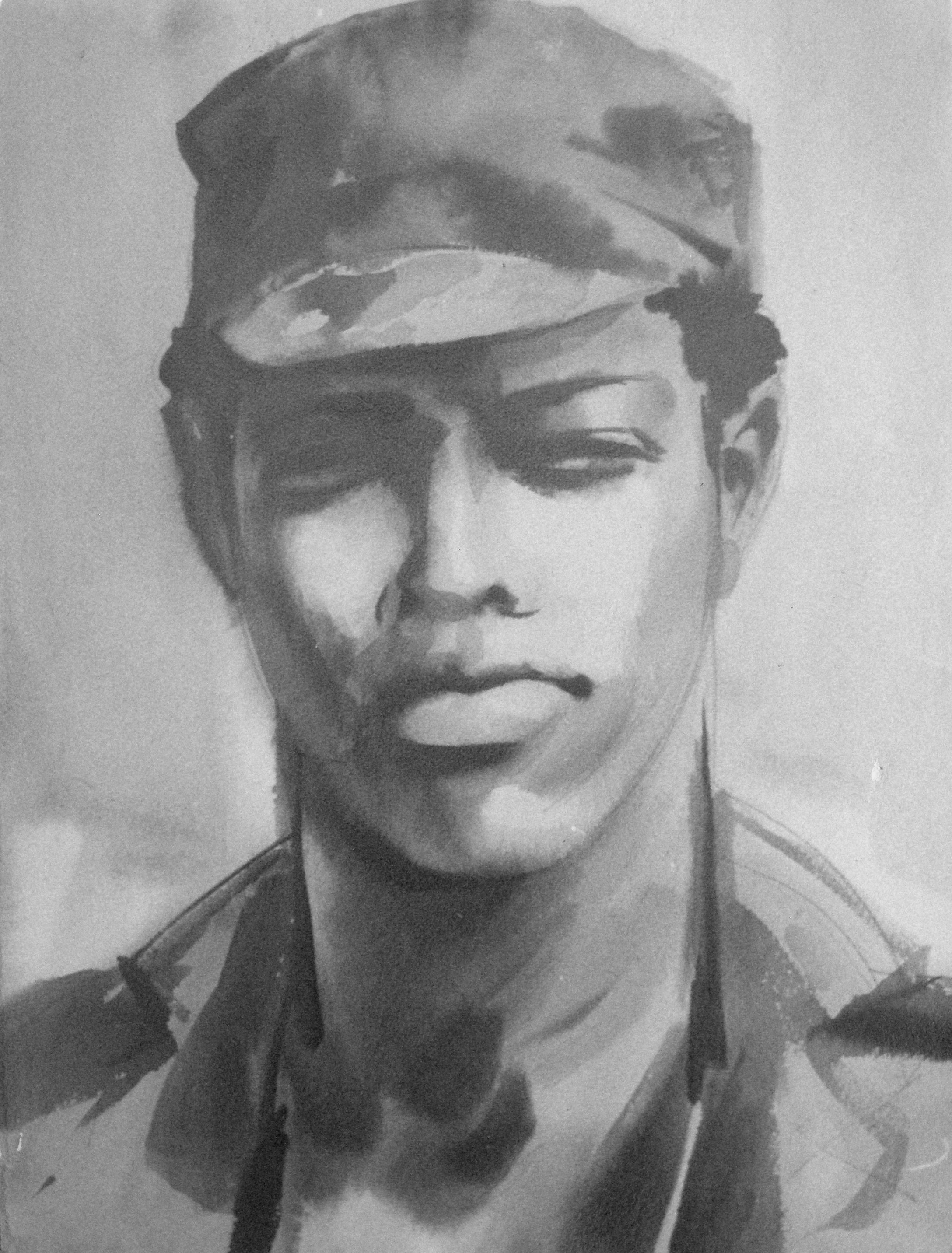 Angola_Portrait_of_a_man_artist_Sergei_Minin_Paper_Watercolor_56x38cm