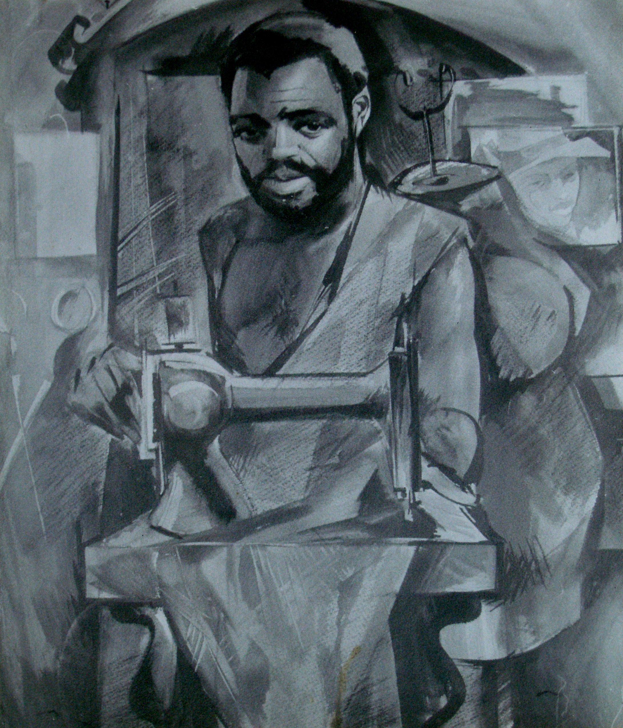 Angola_Tailor_artist_Sergei_Minin_Paper_Watercolor_80x60cm