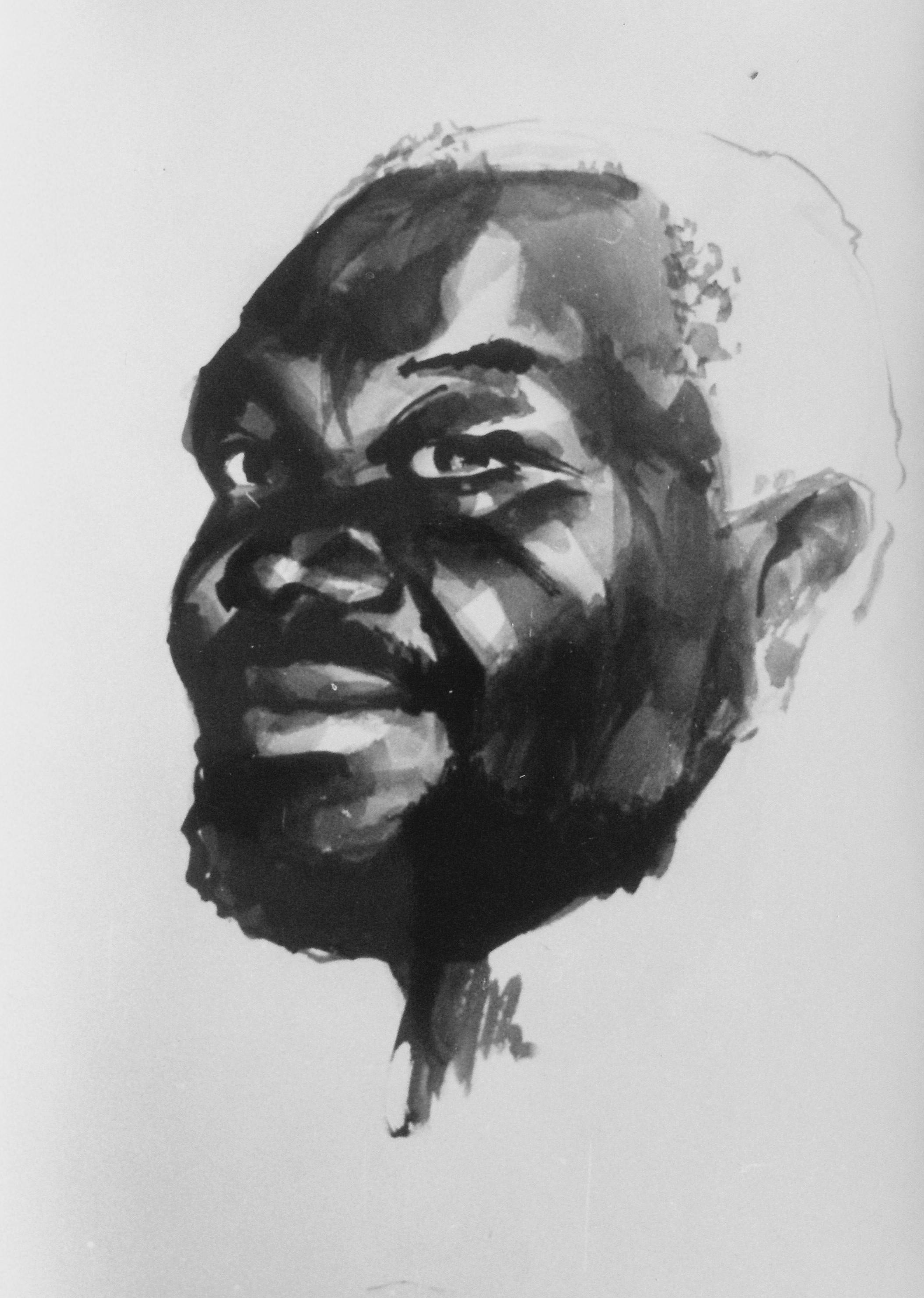 Zambia_Portrait_artist_Sergei Minin_Paper_Ink_56x38cm
