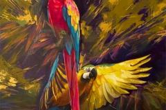 птахи из солнечных краёв. Масло. 85х80см