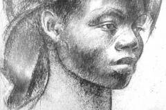 Angola_Female portraitby_Sergei_Minin_Paper_Coal_70x55cm