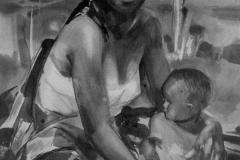 Angola_Mum_artist_Sergei Minin_paper_watercolor_80х60см 1456 x 1776