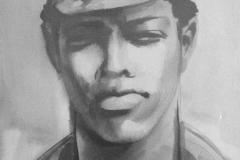 Angola_Portrait_of_a_man_artist_Sergei_Minin_Paper_Watercolor_56x38cm