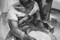 Angola_Young mistress_artist_Sergei Minin_Paper_ Watercolor_80x60cm