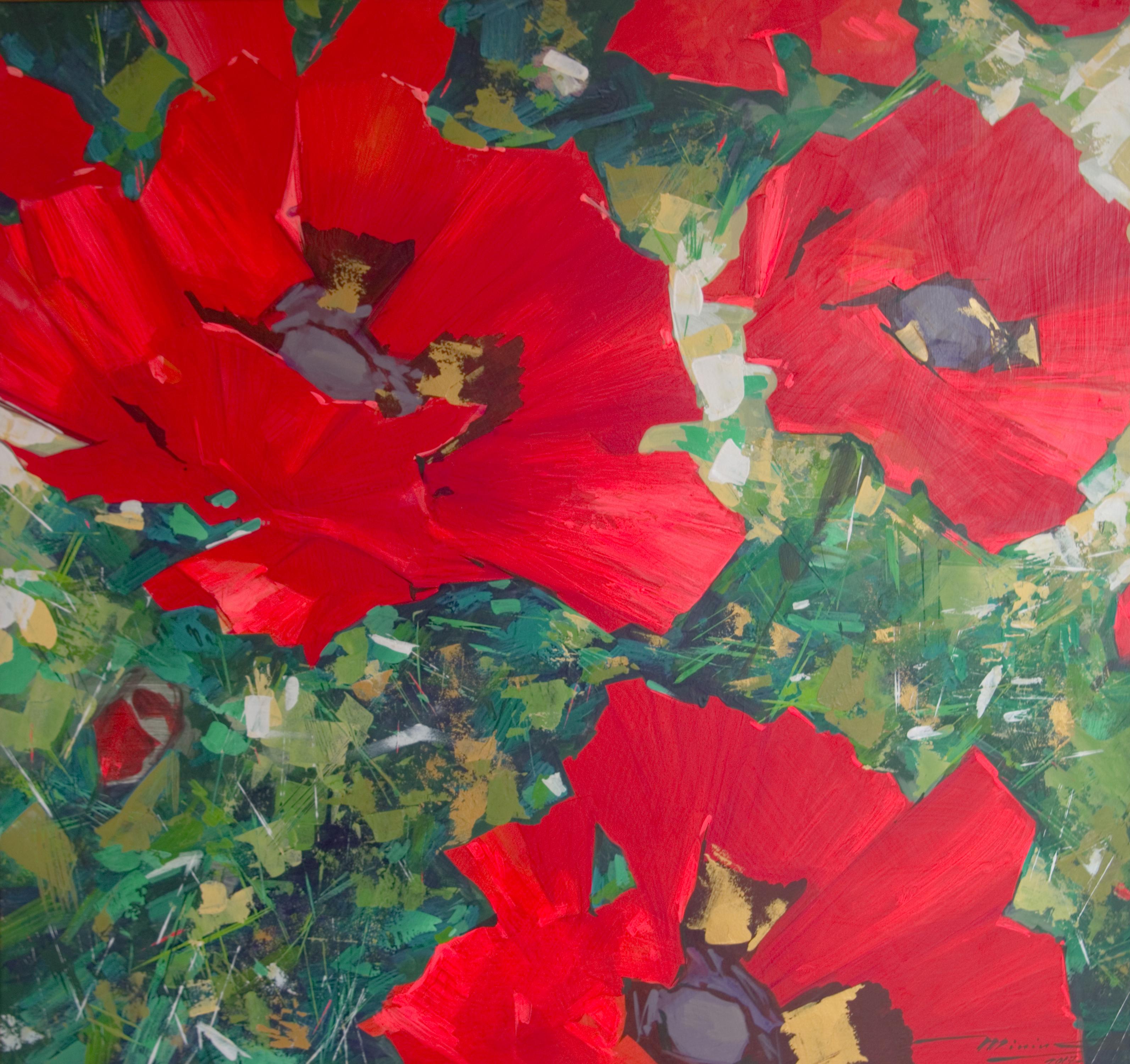 Big Poppies by Sergei Minin