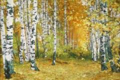 Прекрасная осень. Панель. Масло. 70х90см