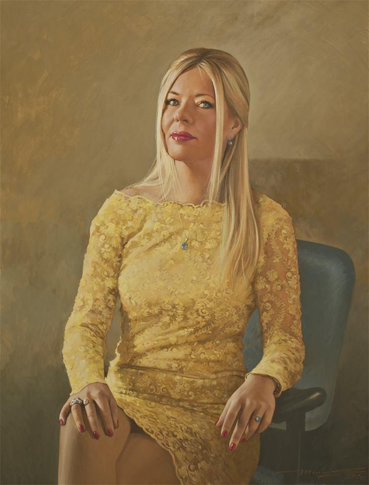 Портрет очаровательной Эве. Холст, масло , 85 х 65 см